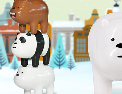 We bare bears promotional toys